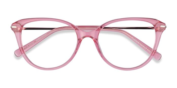 Clear Pink Turner -  Metal Eyeglasses