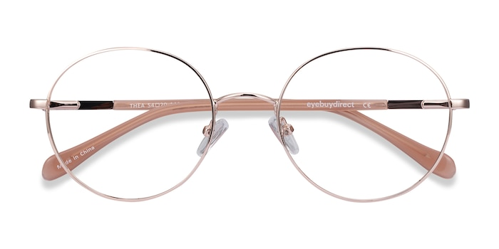 Rose Gold Thea -  Classic Acetate, Metal Eyeglasses