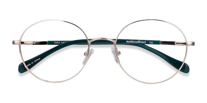 Gold Thea -  Metal Eyeglasses