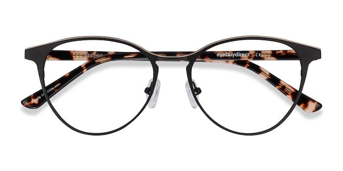 Black & Tortoise Vestige -  Acetate, Metal Eyeglasses