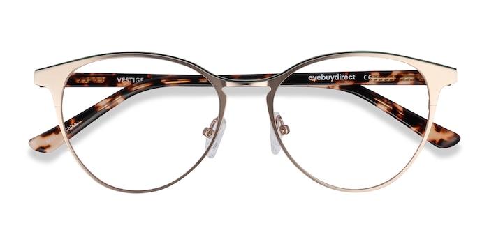 Gold & Tortoise Vestige -  Metal Eyeglasses