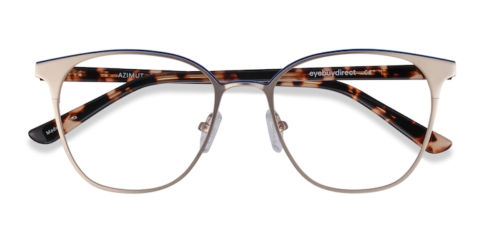 Gold Azimut -  Acetate, Metal Eyeglasses