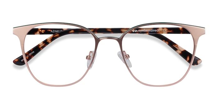 Rose Gold Azimut -  Acetate, Metal Eyeglasses