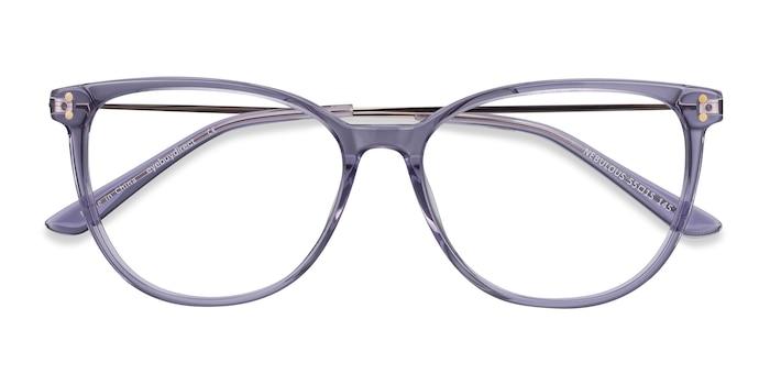 Clear Purple Nebulous -  Métal Lunettes de Vue