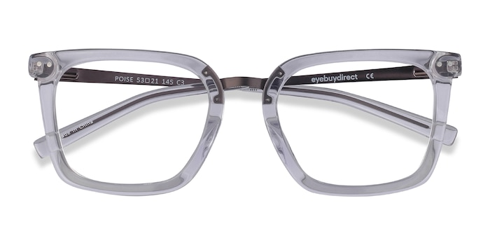Transparent Poise -  Tendance Acetate, Metal Lunette de Vue