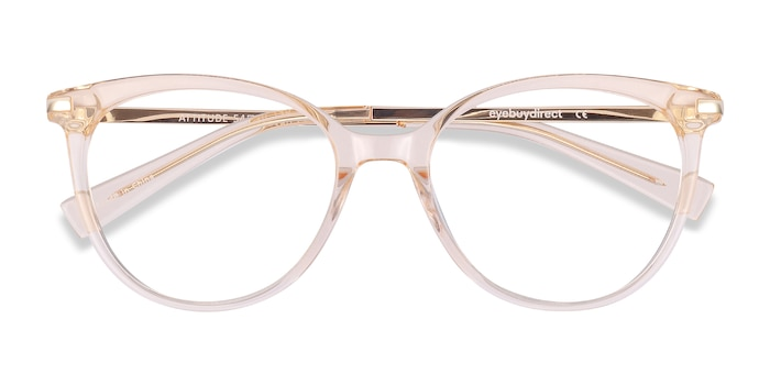 Clear Melon Attitude -  Colorful Metal Eyeglasses