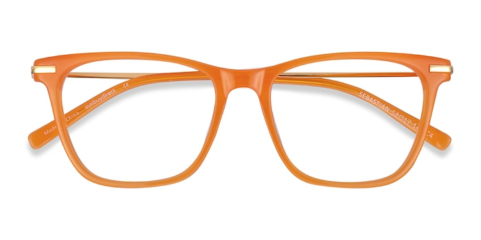 Orange Sebastian -  Colorful Acetate Eyeglasses