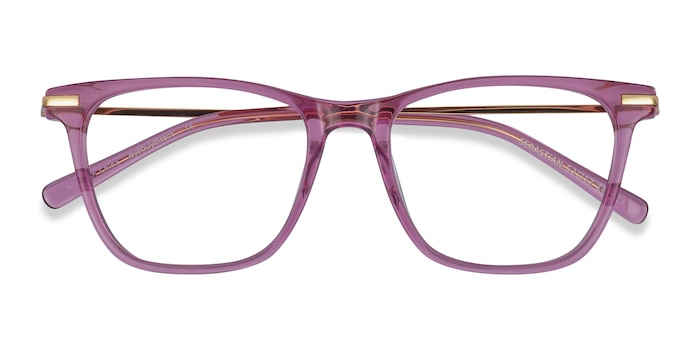 Purple Sebastian -  Lightweight Acetate, Metal Eyeglasses