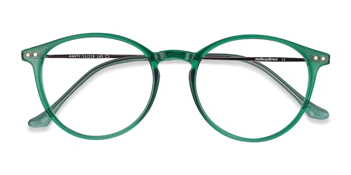 Emerald Green Amity -  Fashion Plastic, Metal Eyeglasses