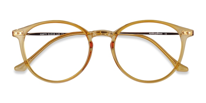 Orange Amity -  Lightweight Metal Eyeglasses