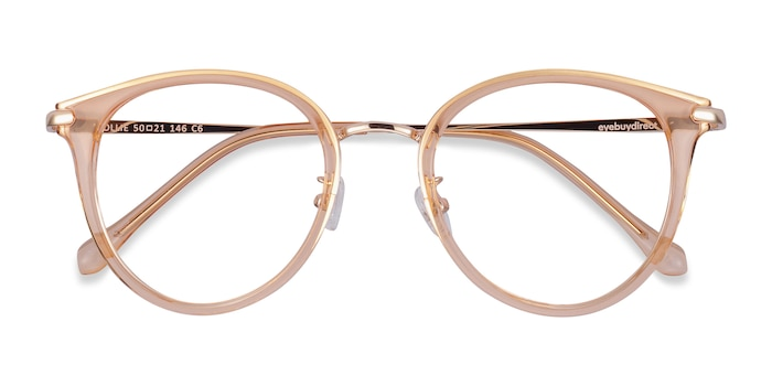 Clear Melon Hollie -  Colorful Metal Eyeglasses