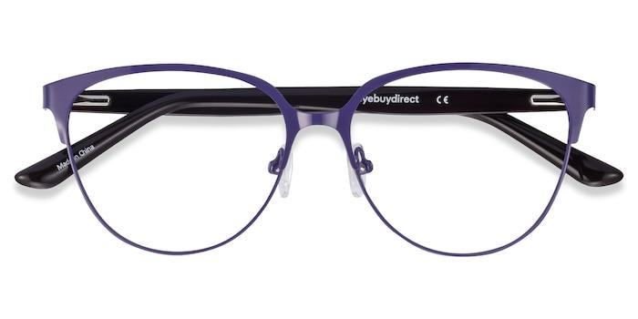 Purple & Leopard Marigold -  Fashion Acetate, Metal Eyeglasses