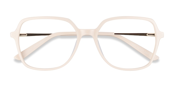 Cream Lenny -  Vintage Acetate, Metal Eyeglasses