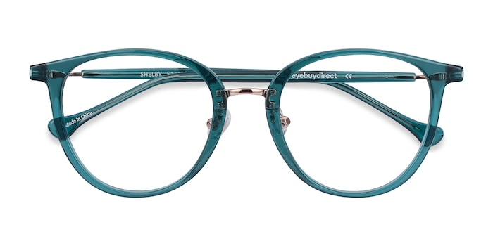 Teal Shelby -  Metal Eyeglasses