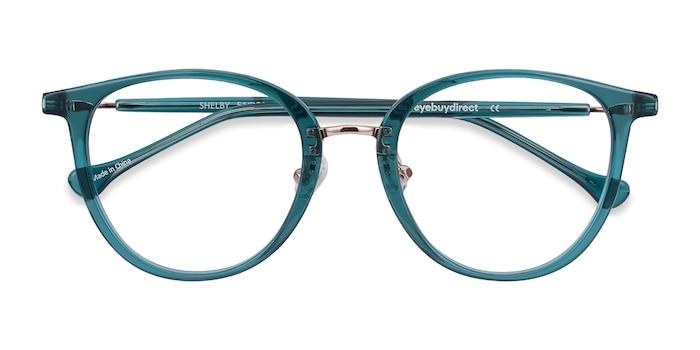 Teal Shelby -  Acetate, Metal Eyeglasses