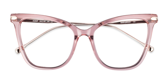 Clear Pink Domy -  Colorful Acetate Eyeglasses