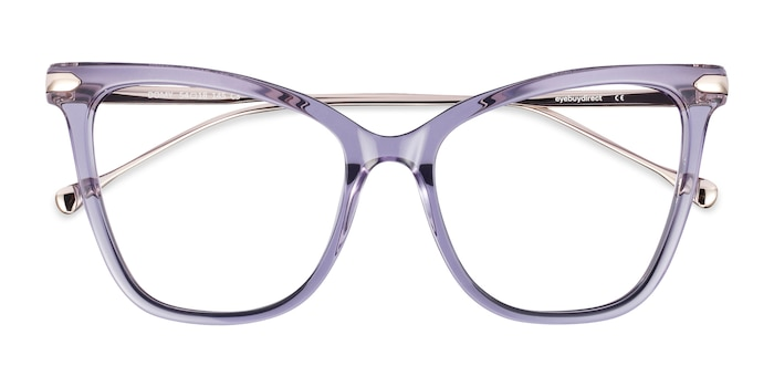 Clear Purple Domy -  Colorful Acetate Eyeglasses