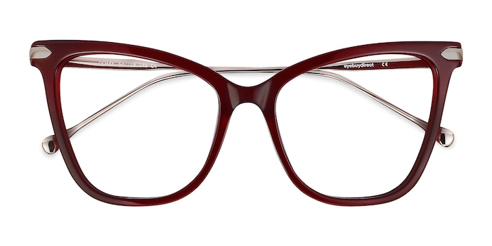 Burgundy Domy -  Fashion Acetate, Metal Eyeglasses