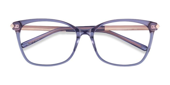 Purple Ashley -  Colorful Acetate, Metal Eyeglasses