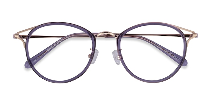 Purple Dazzle -  Colorful Acetate, Metal Eyeglasses