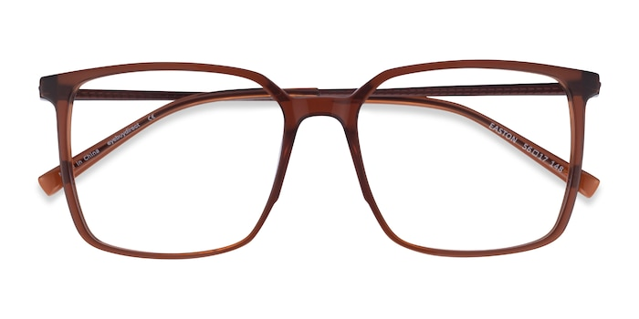 Clear Brown Easton -  Geek Acetate, Metal Eyeglasses