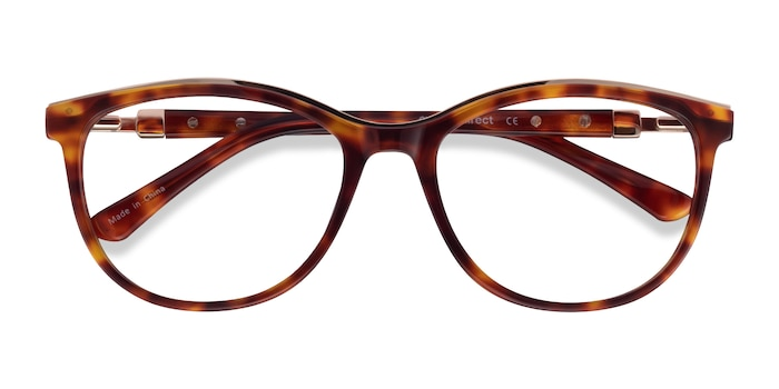 Tortoise Glam -  Acetate, Metal Eyeglasses