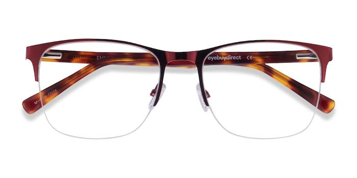 Burgundy & Tortoise Emmerson -  Acetate, Metal Eyeglasses