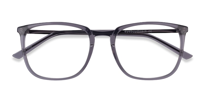 Clear Gray  Silver Domenico -  Acetate Eyeglasses