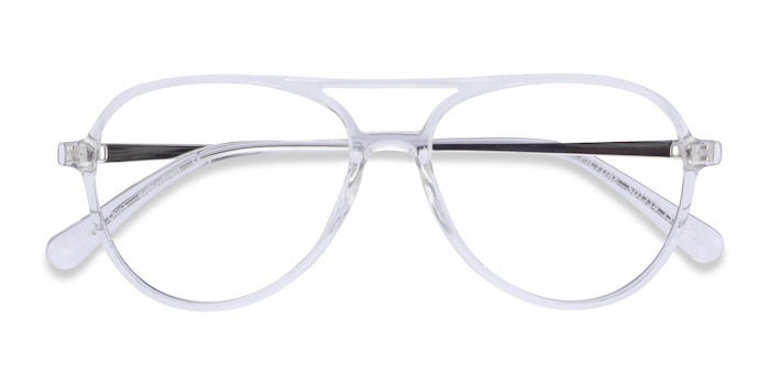 Clear & Silver Picture -  Plastic, Metal Eyeglasses