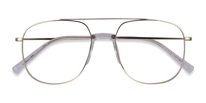 Gold & Clear Subject -  Acetate, Metal Eyeglasses