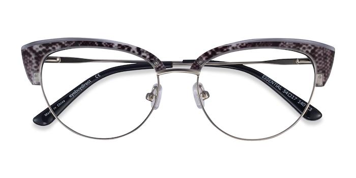 Snake & Silver Essential -  Acetate, Metal Eyeglasses