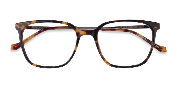 Tortoise Silver Confident -  Acetate Eyeglasses