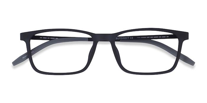 Matte Navy Black Rebus -  Plastic Eyeglasses