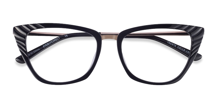 Black Gold Trenta -  Fashion Acetate Eyeglasses