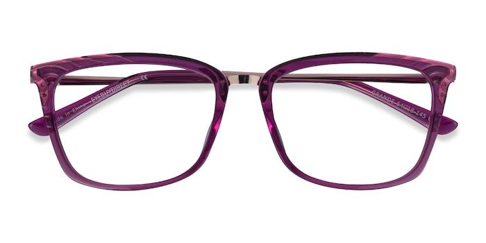 Purple Gold Grande -  Colorful Acetate Eyeglasses
