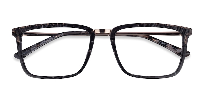 Dark Tortoise Volume -  Classic Acetate Eyeglasses