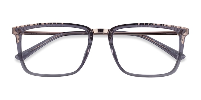 Clear Gray Volume -  Classic Acetate Eyeglasses