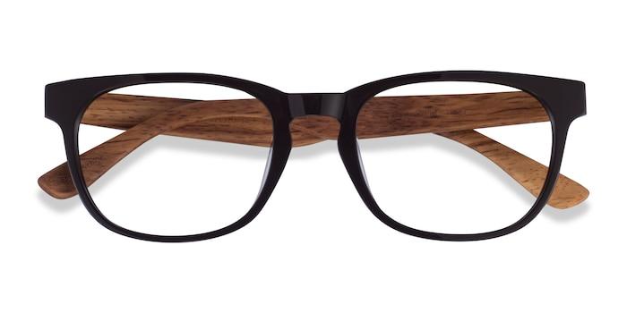 Dark Brown & Wood Tongass -  Wood Texture Eyeglasses