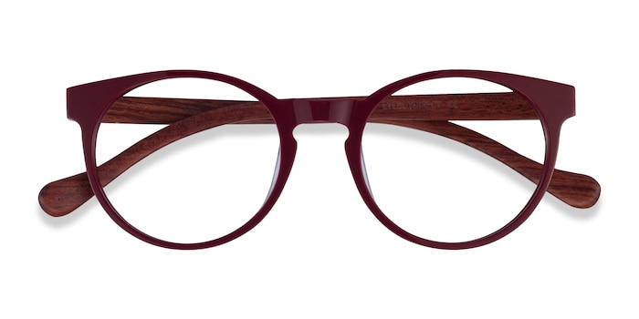 Red & Red Wood Everglades -  Wood Texture Eyeglasses