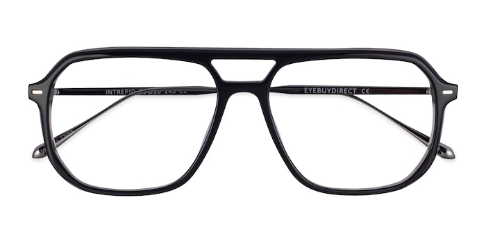 Black Gunmetal Intrepid -  Acetate Eyeglasses