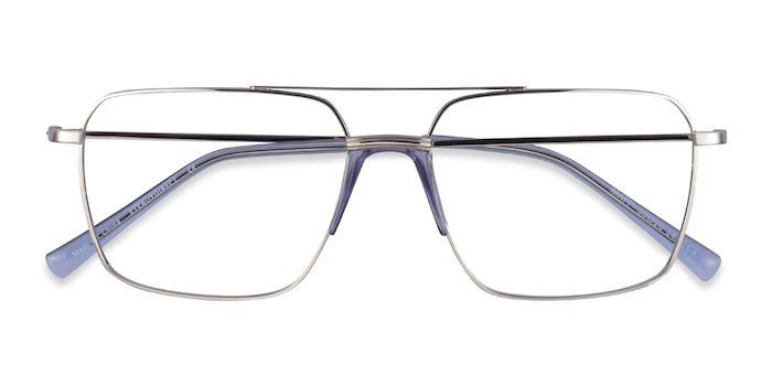 Silver Blue Matt -  Acetate Eyeglasses