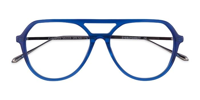 Clear Blue Silver Cumulus -  Acetate Eyeglasses