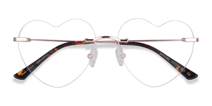 Rose Gold Amore -  Fashion Metal Eyeglasses