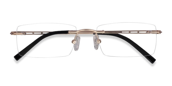 Light Golden Percy -  Metal Eyeglasses