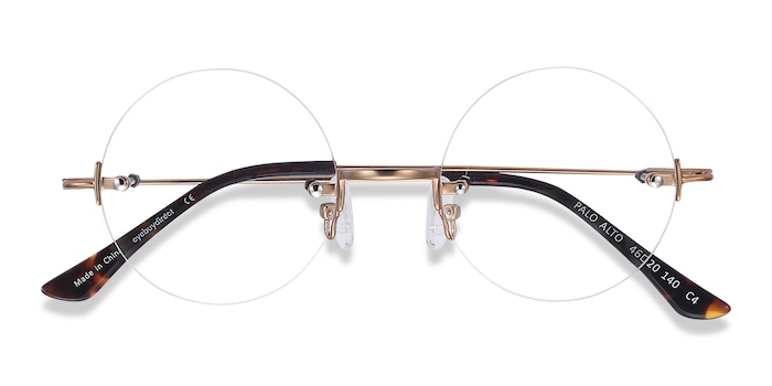 Golden Palo Alto -  Metal Eyeglasses
