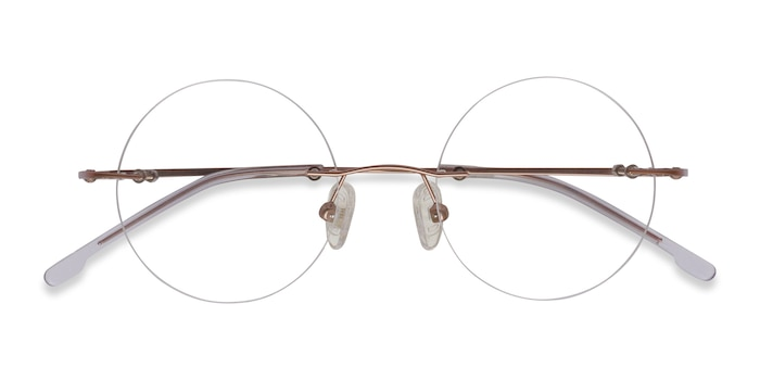 Rose Gold Altus -  Metal Eyeglasses