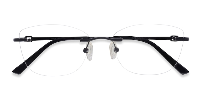 Black Vince -  Lightweight Metal Eyeglasses