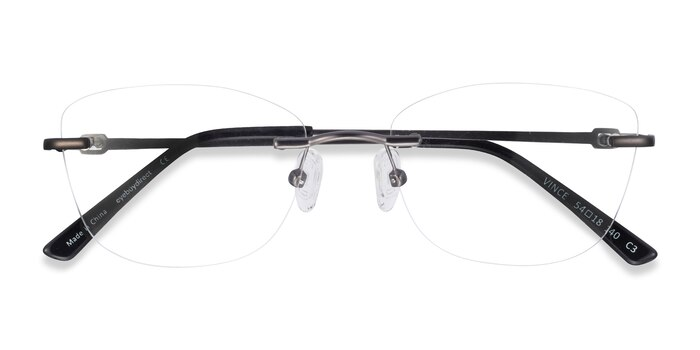 Gunmetal Vince -  Lightweight Metal Eyeglasses