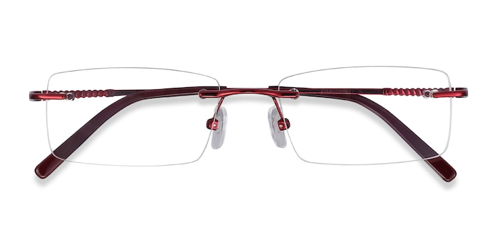 Burgundy Earl -  Metal Eyeglasses