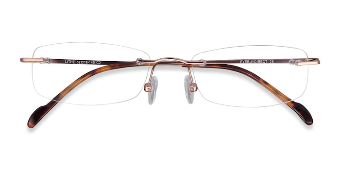 Rose Gold Lithe -  Metal Eyeglasses